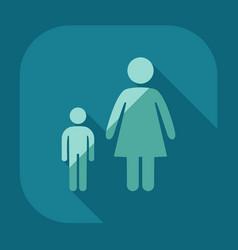 Stick figure man silhouette icon vector