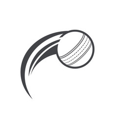 Swoosh cricket ball logo icon vector