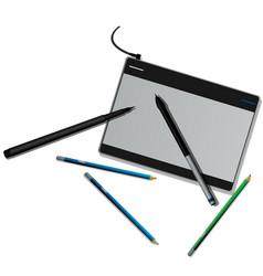 tablet pencils vector image