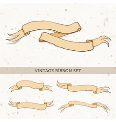 Vintage red ribbon vector