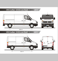 Volkswagen crafter delivery van l2h1l1h1 2011 vector