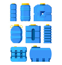 water barrels different tanks isolated vector image