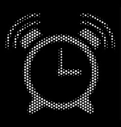 White dotted buzzer icon vector