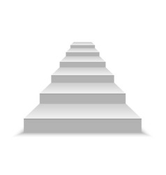 white stairs vector image