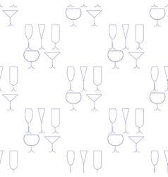 Wine Glasses Seamless Pattern vector image