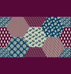 Xmas naive winter symbols seamless pattern vector
