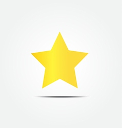 Gold star icon vector image vector image