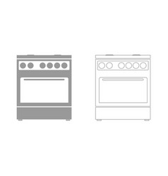 kitchen stove set icon vector image vector image