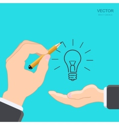 modern hand with pencil vector image