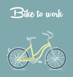 Retro poster with Bicycle vector image