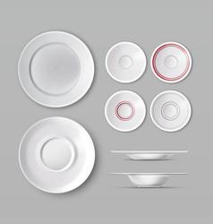 set of dishware vector image vector image