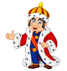 Cartoon king presenting isolated vector image vector image