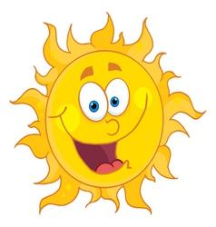 happy sun vector image vector image