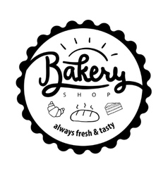 Logo or label for bakery and bread shop vector