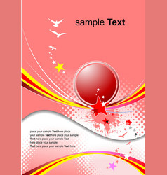 pink holiday background invitation card vector image vector image