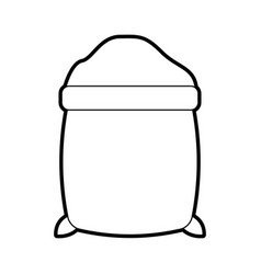 Sugar sack isolated icon vector