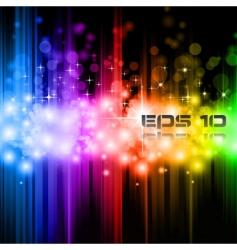 magic rainbow lights vector image vector image