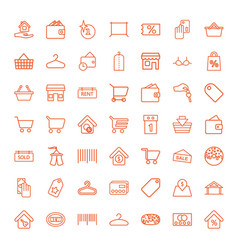 49 sale icons vector image