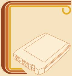 8-track tape vector image