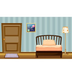 A wooden bed vector image vector image