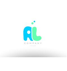 Aaaaa alphabet letter blue green logo icon design vector