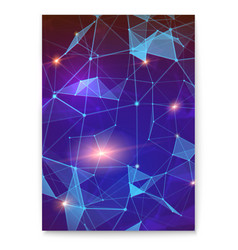 Abstract digital cover with pattern plexus vector