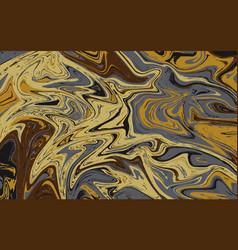 abstract liquid texture golden marble background vector image