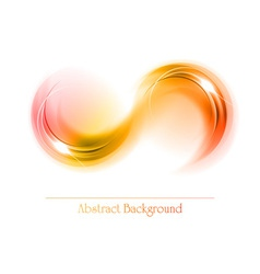 abstract shape smoke double white red orange vector image