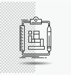 Algorithm process scheme work workflow line icon vector