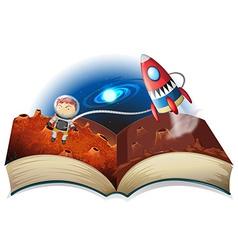 Astronaut book vector