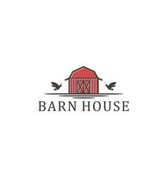 Barn house wood agriculture logo - farming vector