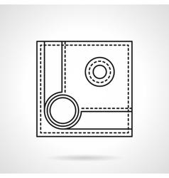 Billiard ball flat line icon vector
