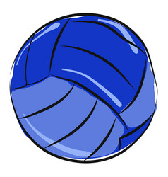 blue volleyball on white background vector image