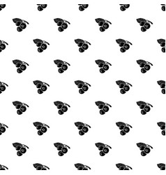 blueberry pattern seamless vector image