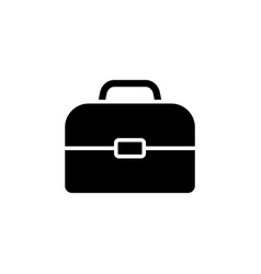 briefcase icon black on white vector image
