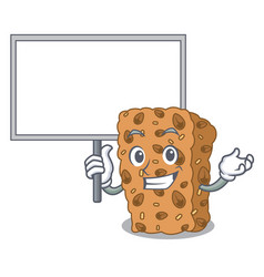 Bring board granola bar character cartoon vector