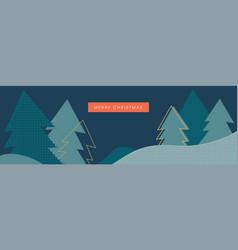 christmas winter landscape background winter vector image