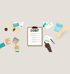 Cobit control objectives for information and vector
