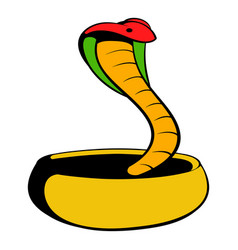 Cobra snake icon cartoon vector
