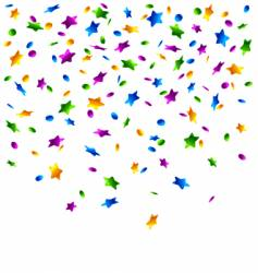 Confetti stars background vector