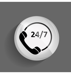 Customer service 247 Glossy Icon vector
