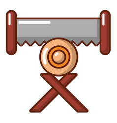 Cutting saw icon cartoon style vector