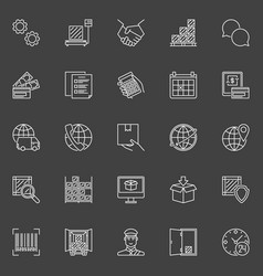 Delivery and logistics icons vector