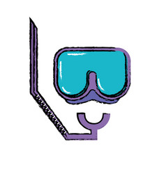 diving mask to be underwater adventure vector image