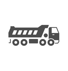 dump truck glyph icon or industrial vehicle sign vector image