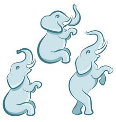 Elephant in various poses vector