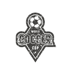 Emblem for soccer championship vector