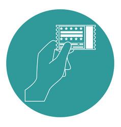 Entertainment ticket icon vector