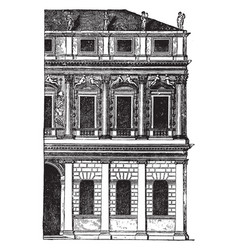 Faade of a palace at vicenza is generally vector