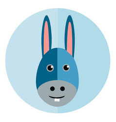 face little donkey with its big ears and two vector image